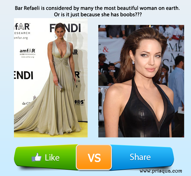 Who is the most beautiful Woman: Bar Refaeli or Angelina Jolie