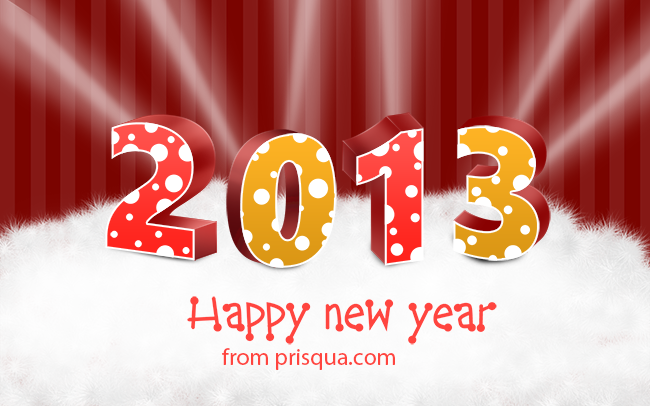 Happy New Year 2013 From Prisqua
