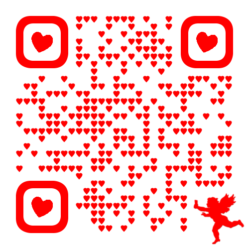 Onine Dating Valentine's Day Gift QR code